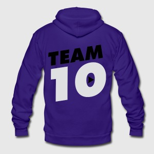 TEAM 10 TEN YouTube - Unisex Fleece Zip Hoodie by American Apparel