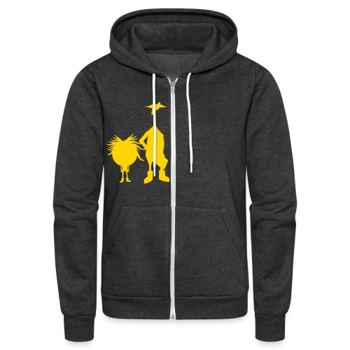 Official The Chicken and The Egg Design - Unisex Fleece Zip Hoodie
