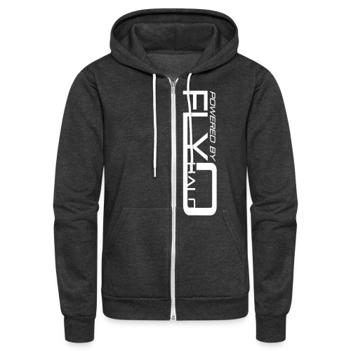Powered By Fly Halo Blue - Unisex Fleece Zip Hoodie
