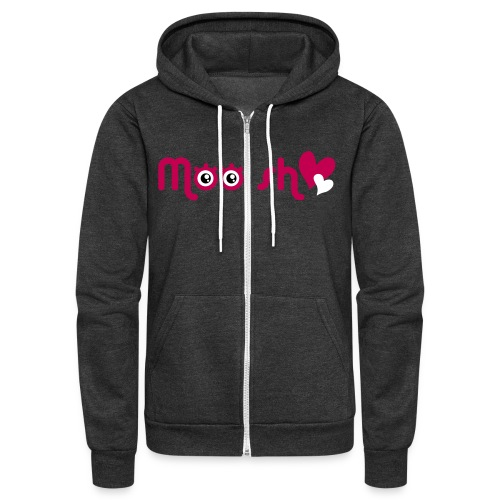 moosh girl vec split - Unisex Fleece Zip Hoodie