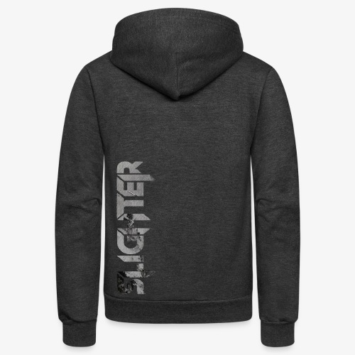 Slighter Line Glitch Logo - Unisex Fleece Zip Hoodie