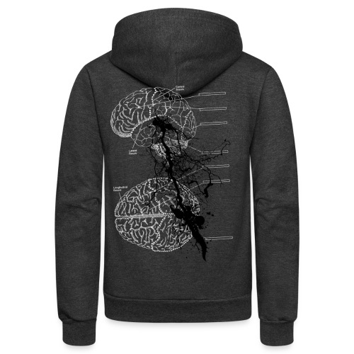 brain storm designer graphic - Unisex Fleece Zip Hoodie