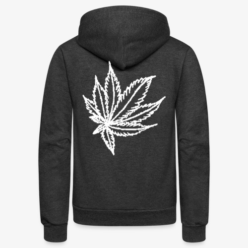 white leaf - Unisex Fleece Zip Hoodie