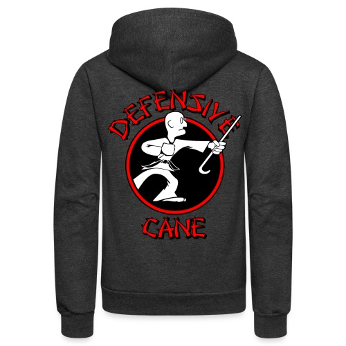 Defensive Cane - Unisex Fleece Zip Hoodie