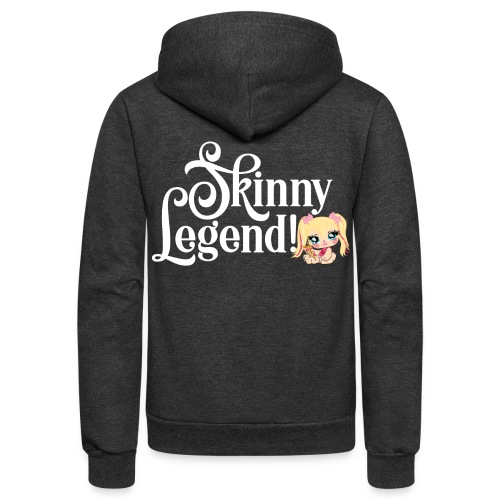 Skinny Legend_onblack - Unisex Fleece Zip Hoodie