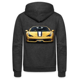 Ferrari 458 Speciale - Unisex Fleece Zip Hoodie by American Apparel