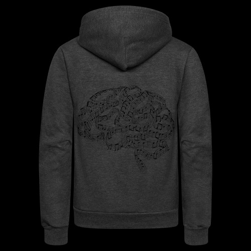 Sound of Mind | Audiophile's Brain - Unisex Fleece Zip Hoodie