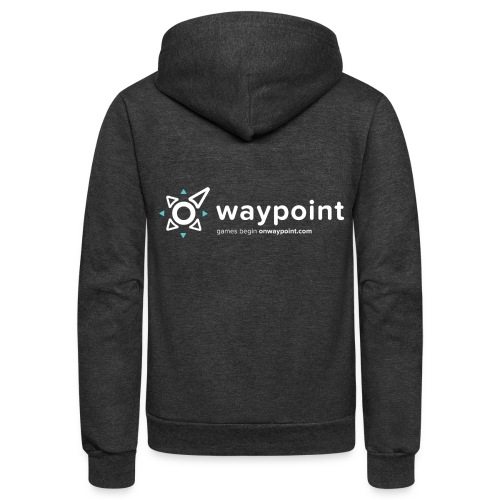 Waypoint Logo (Light Version) - Unisex Fleece Zip Hoodie