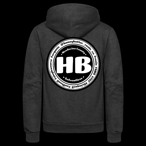 HB Patch Black & White - Unisex Fleece Zip Hoodie