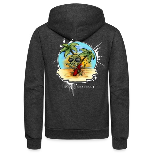 let's have a safe surf home - Unisex Fleece Zip Hoodie
