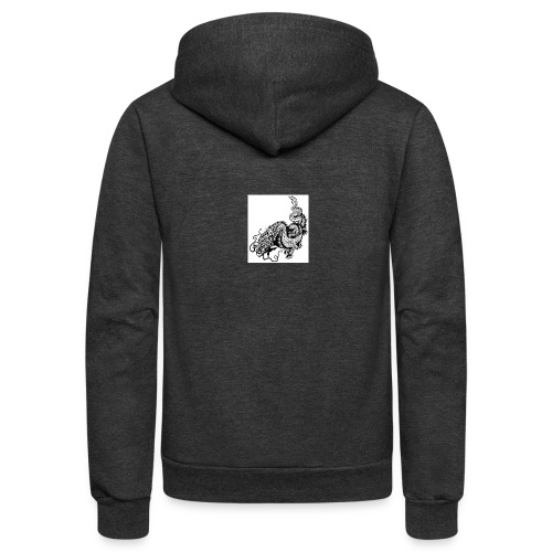 24019358 dragon black and white illustration - Unisex Fleece Zip Hoodie