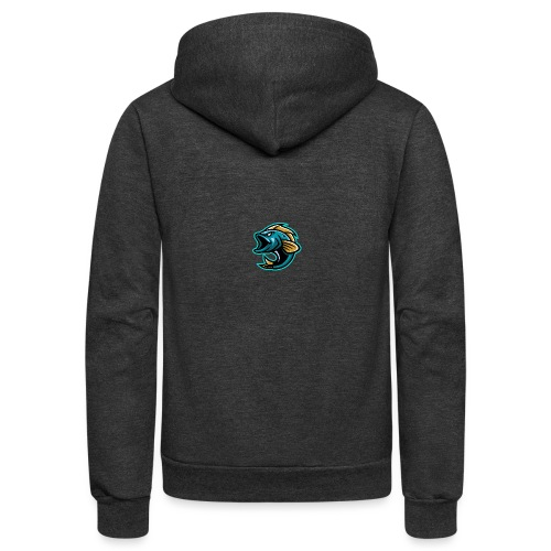 PogFish Logo Only - Unisex Fleece Zip Hoodie
