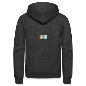 Rainbow Tiger Design Cases - Unisex Fleece Zip Hoodie