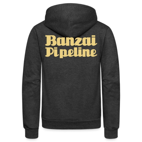 The Legendary Banzai Pipeline - North Shore - Oahu - Unisex Fleece Zip Hoodie