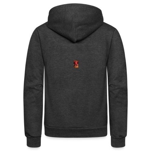 Dragon anger - Unisex Fleece Zip Hoodie