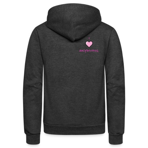 I Love Skydiving/BookSkydive/Perfect Gift - Unisex Fleece Zip Hoodie