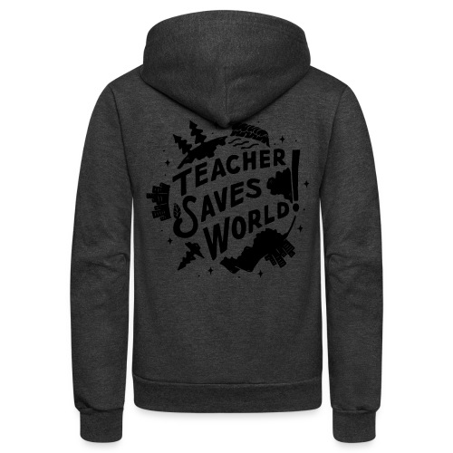TSW! Retro World Design - Unisex Fleece Zip Hoodie