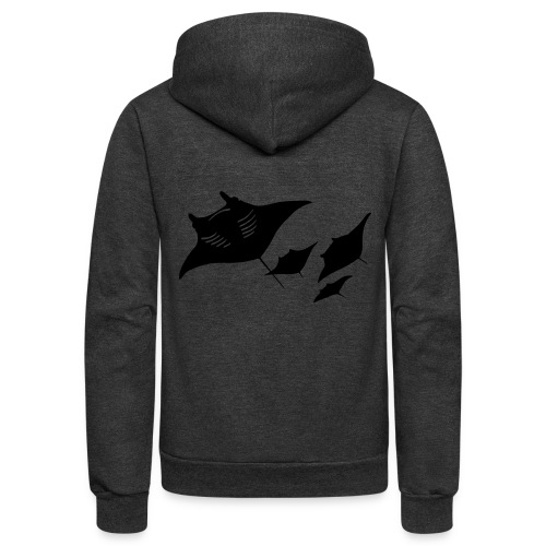 manta ray sting scuba diving diver dive - Unisex Fleece Zip Hoodie
