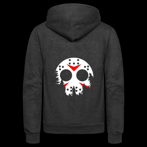 Haunted Halloween Hockey Mask - Unisex Fleece Zip Hoodie