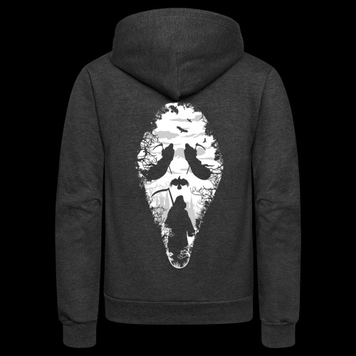 Reaper Screams | Scary Halloween - Unisex Fleece Zip Hoodie