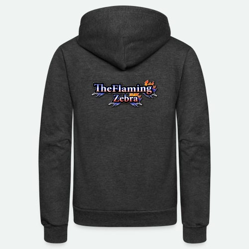 BIG TheFlamingZebra Logo - Unisex Fleece Zip Hoodie