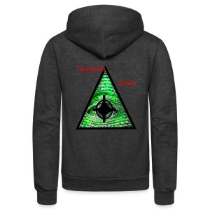 illuminati Confirmed - Unisex Fleece Zip Hoodie by American Apparel
