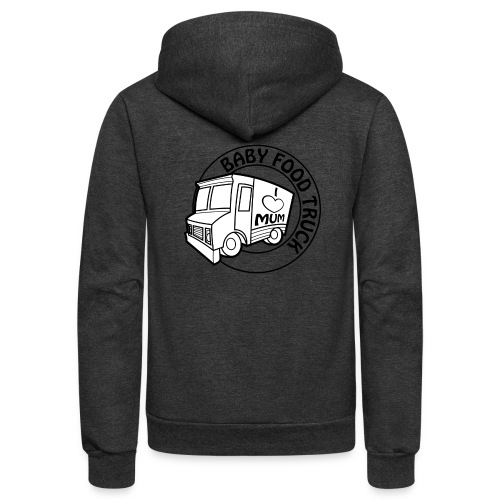 Baby Food truck - Unisex Fleece Zip Hoodie