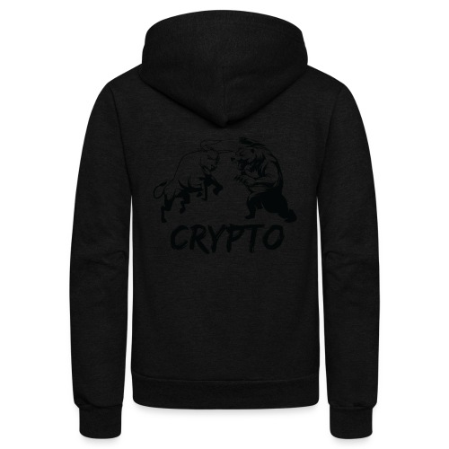 CryptoBattle Black - Unisex Fleece Zip Hoodie