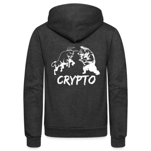 CryptoBattle White - Unisex Fleece Zip Hoodie