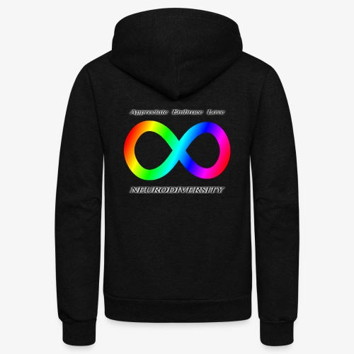 Embrace Neurodiversity - Unisex Fleece Zip Hoodie