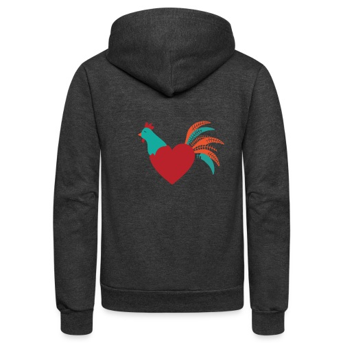 Chicken Heart - Unisex Fleece Zip Hoodie