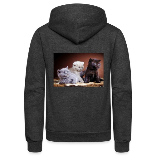 The 3 little kittens - Unisex Fleece Zip Hoodie