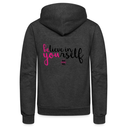 BE YOU shirt design w logo - Unisex Fleece Zip Hoodie