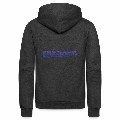 Poem Text - Unisex Fleece Zip Hoodie