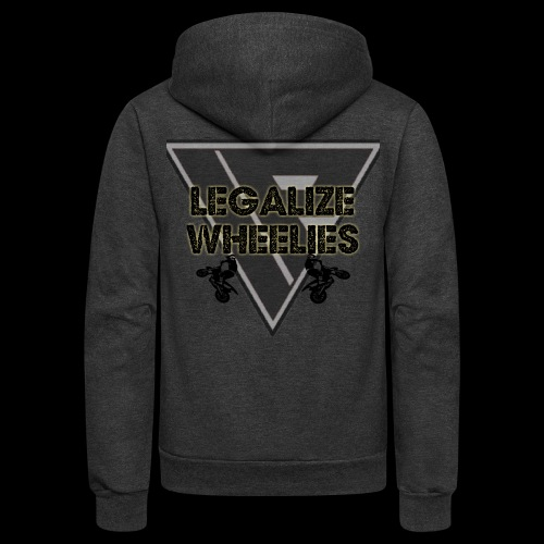 LEGALIZE WHEELIES - Unisex Fleece Zip Hoodie
