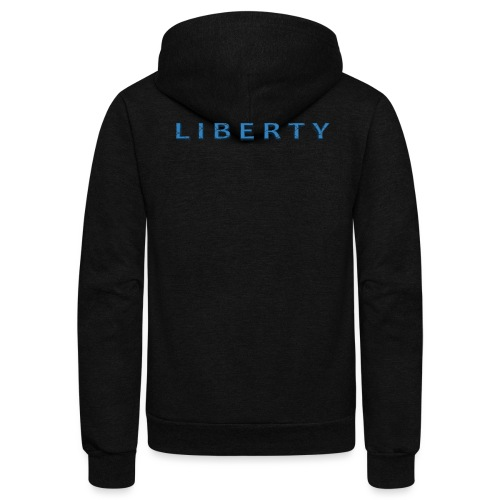 Liberty Libertarian Design - Unisex Fleece Zip Hoodie