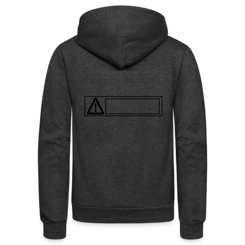 warning sign - Unisex Fleece Zip Hoodie