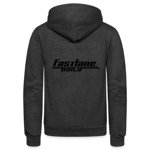 Fast Lane Daily logo - Unisex Fleece Zip Hoodie