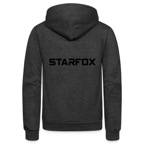 STARFOX Text - Unisex Fleece Zip Hoodie