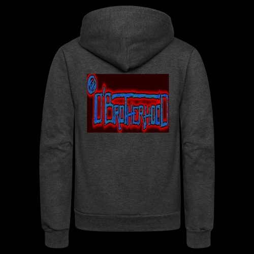 The D'BroTHerHooD Logo - Unisex Fleece Zip Hoodie