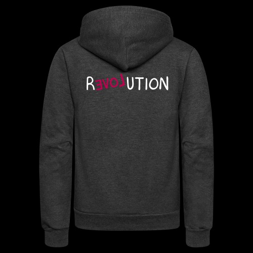 re-LOVE-ution - Unisex Fleece Zip Hoodie