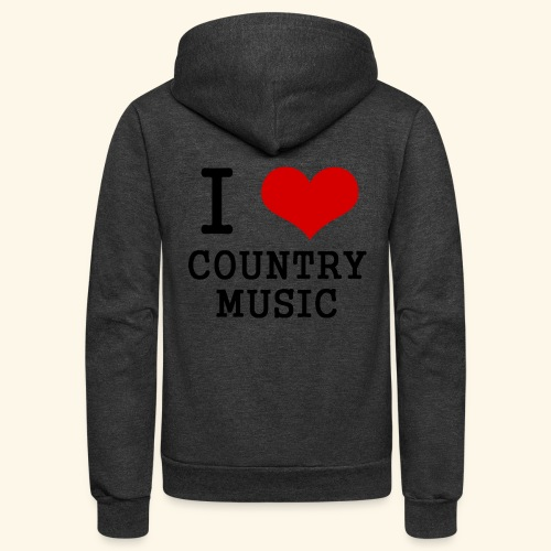I love country music - Unisex Fleece Zip Hoodie
