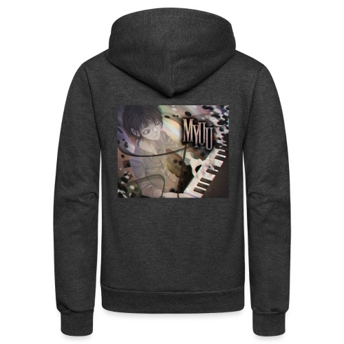 Dark Piano 1 - Unisex Fleece Zip Hoodie