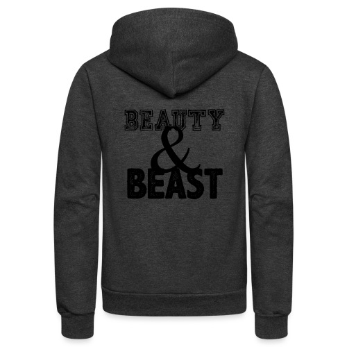 Beauty & Beast Gym Motivation - Unisex Fleece Zip Hoodie