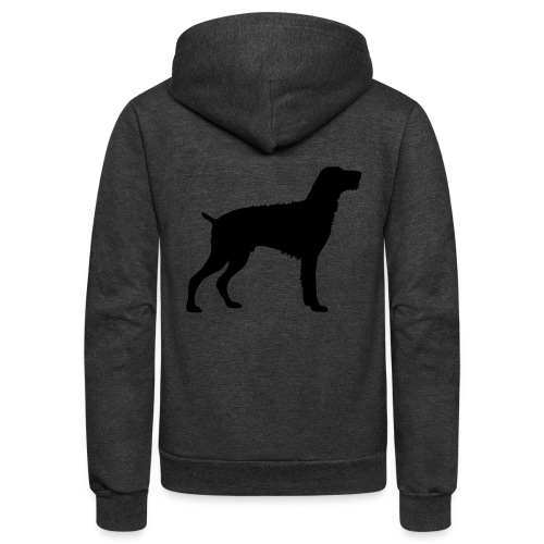 German Wirehaired Pointer - Unisex Fleece Zip Hoodie