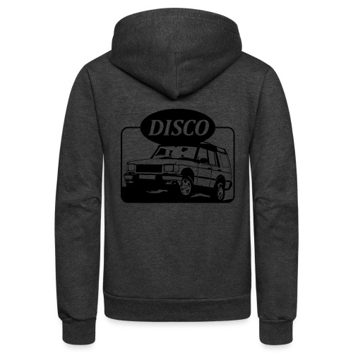 Land Rover Discovery illustration - Unisex Fleece Zip Hoodie