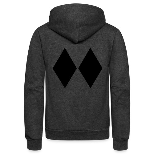 Double Black Diamond - Unisex Fleece Zip Hoodie