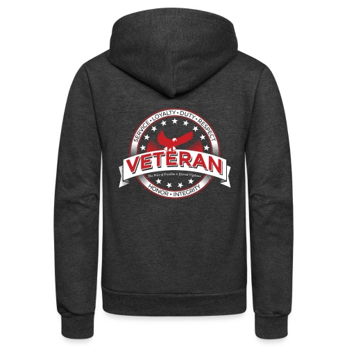 Veteran Soldier Military - Unisex Fleece Zip Hoodie