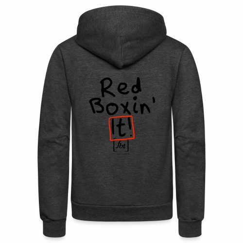 Red Boxin' It! [fbt] - Unisex Fleece Zip Hoodie