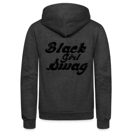 Black Girl Swag T-Shirt - Unisex Fleece Zip Hoodie